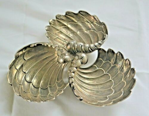 Vintage Portuguese Portugal Fine Quality Solid 800+ Silver Wing Shaped Dish