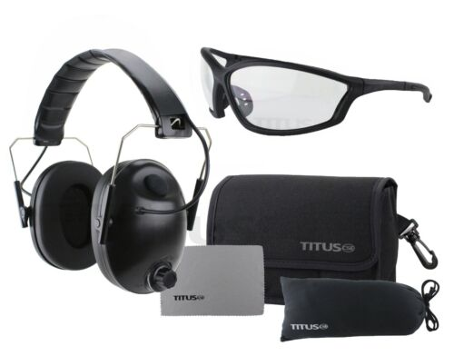 Titus Electronic Automatic Smart Noise Canceling Ear Muffs & Eye Protection G26
