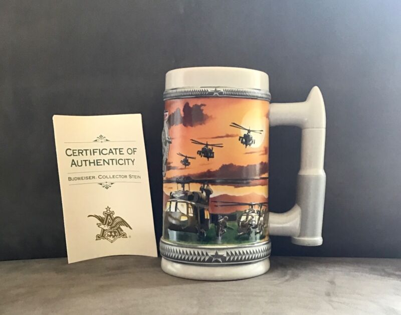 BUDWEISER SALUTES ARMY BEER STEIN Military Series Anheuser-Busch VINTAGE