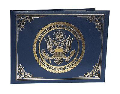 U.S. Citizenship and Naturalization Certificate Holder. Gold American Eagle l...