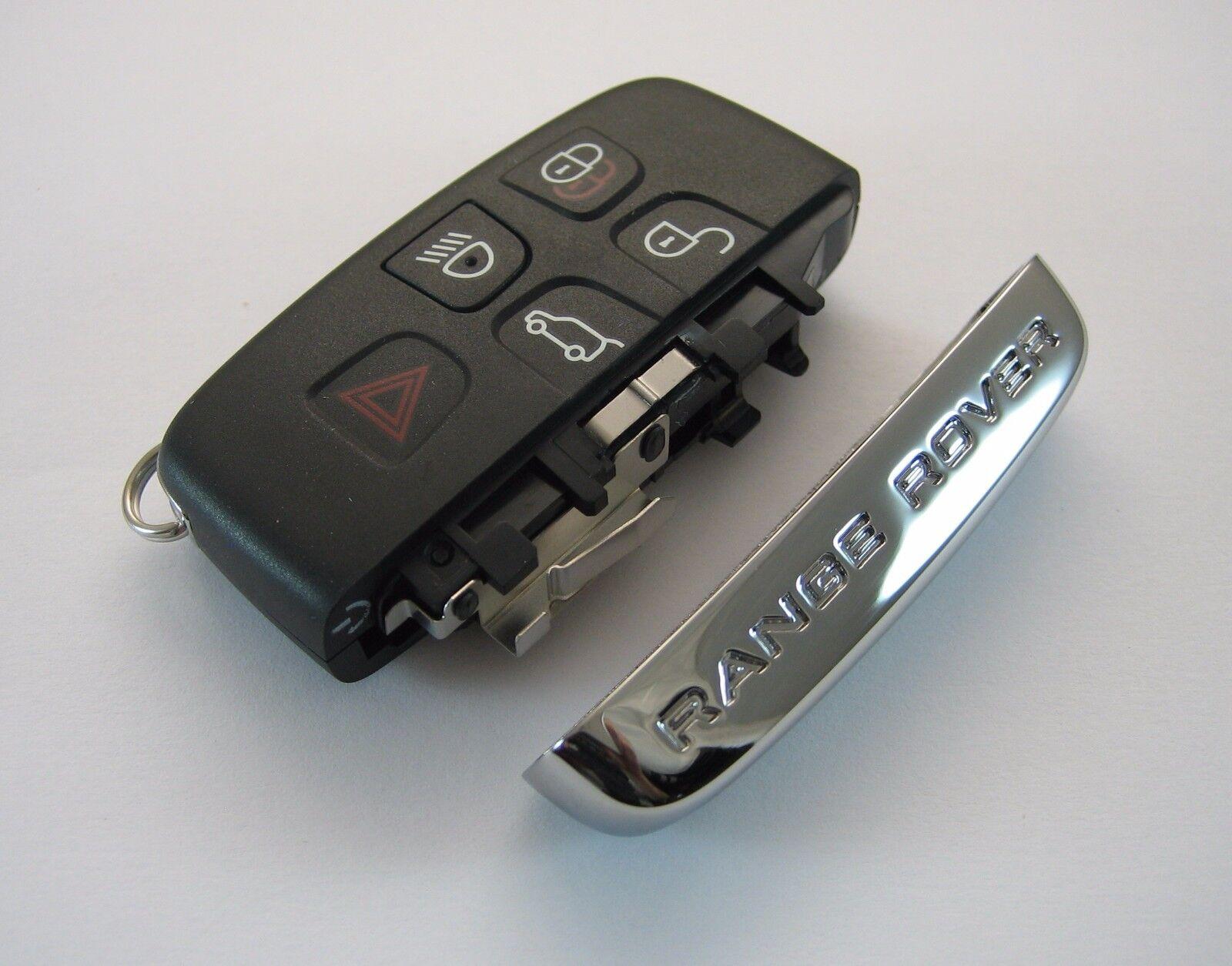 Range Rover / Sport Smart Key Remote Fob Button Pad Case and Chrome Side Rebuild