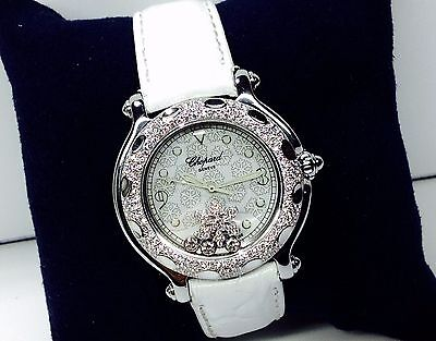 "LADY CHOPARD GENEVE WATCH HAPPY SPORT ""SNOW FLAKE"" DIAMOND DIAL/BEZEL"