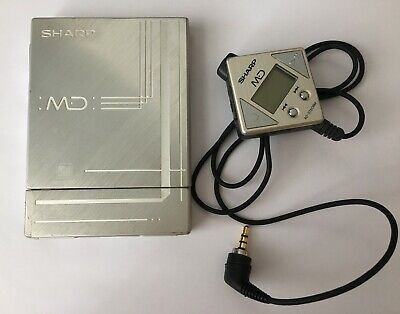 Sharp MD-ST60 MiniDisc digital audio system, Silver! From Personal Collection