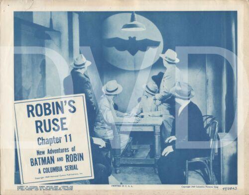 1949 Adventures of Batman & Robin Lobby Card 11x14 Chapter 11 Robins Ruse USA 🕴