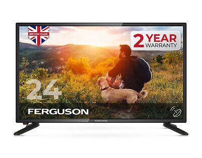 "FERGUSON 24"" inch LED TV FREEVIEW HD HDMI, USB & VGA NEW 2020 MODEL - MADE IN UK"