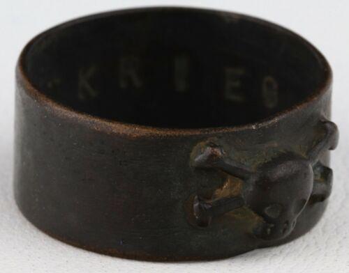 ww1 GERMAN Ring SKULL Sword WELTKRIEG wwI or WWII ww2 GERMANY Trench ART Jewelry