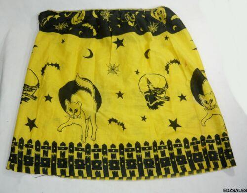 Vintage Halloween Costume Witch Bat Cat Skirt