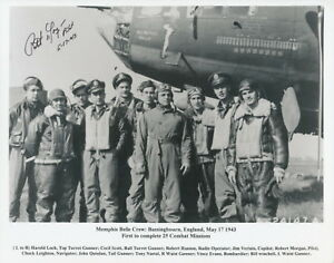 Memphis Belle Bassingbourn photo signed by Pilot Bob Morgan.