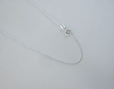 14,16,18,20,24 inch Sterling Silver 1mm Cable Chain Thin Rolo .925 Made in - Thin Rolo Chain