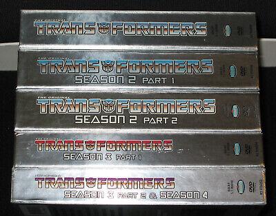 Transformers 1984 Complete Series DVD Season 1 2 3 4 Rhino Original G1 -Plz Read