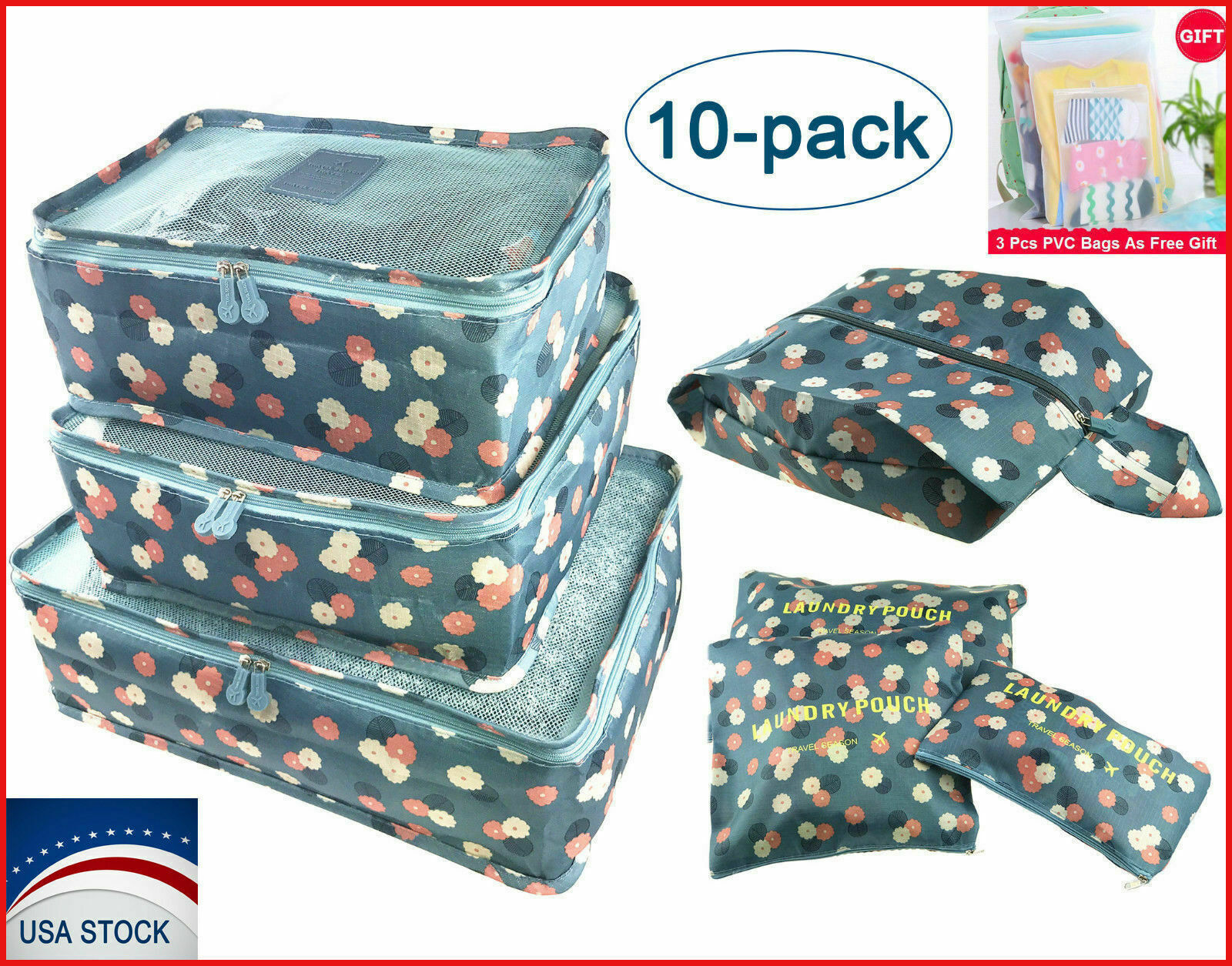 Travel Storage Bags Clothes Packing Cubes Luggage Organizers