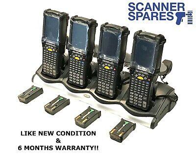 Lot Of 4 Symbol Motorola Mc9090-gf0hjefa6wr 1d Laser Wm5 Barcode Scanner Dock