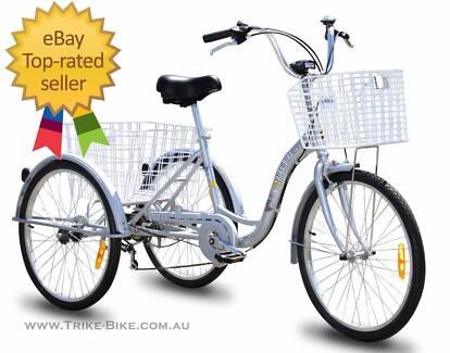 Adult Tricycle 3 Wheeler Genuine Trike Bike Aluminium 7 speed