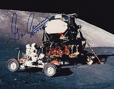 GENE CERNAN APOLLO 17 MOON WALKER- HAND-SIGNED 8x10 PHOTO - NOVA SPACE- COA