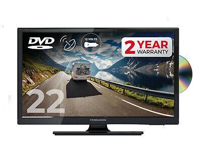 "FERGUSON 22"" INCH 12 volt LED TV DVD FREEVIEW HD & SAT, HDMI 1080P CARAVAN 12v"