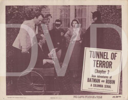 1949 New Adventures Batman & Robin Theater Lobby Card 11x14 Tunnel of Terror USA
