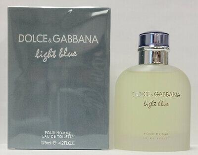Dolce & Gabbana Light Blue 4.2oz / 125ml Eau De Toilette Spray For Men. New