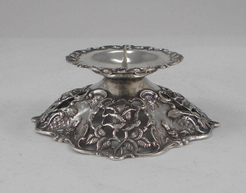 RAR Stylish Candle Holder Me Rosenmotiven From 800er Silver From C.Widmann