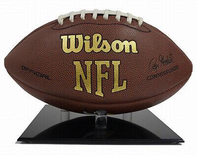 (5) NFL FULL SIZE FOOTBALL BLACK BASE ACRYLIC BALL STAND DISPLAY HOLDER Black Acrylic Football Display Case
