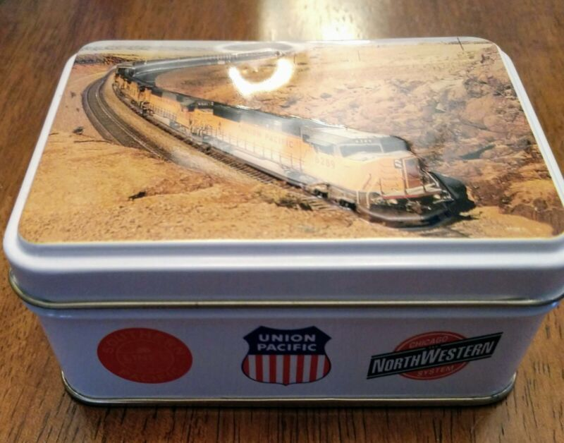 UNION PACIFIC Railroad Tin with TWO Full Deck of Cards NEW, UNWRAPPED