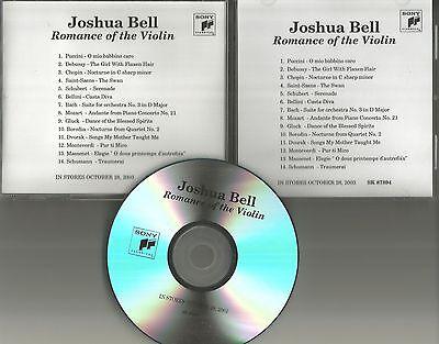 Joshua Bell Romance - JOSHUA BELL Romance of the Viloin 2003 TST PRESS USA ADVNCE PROMO DJ CD MINT
