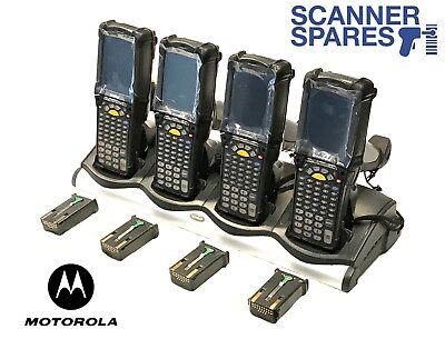 Lot Of 4 Symbol Motorola Mc9090-gj0hbega2wr 1d Lorax Ce Barcode Scanner Dock