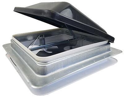 "Ventline 14"" RV Roof vent 12 volt FAN w/ SMOKE lid inner garnish ring V2094SP-34"