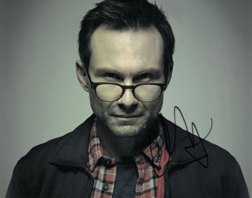 CHRISTIAN SLATER SIGNED 8x10 PHOTO PROOF COA AUTOGRAPHED MR ROBOT 3
