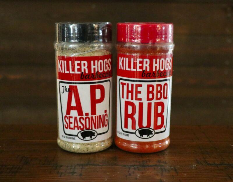 """Killer Hogs """"Malcom Reeds"""" BBQ RUB & AP Seasoning -2 16oz. Shakers"""