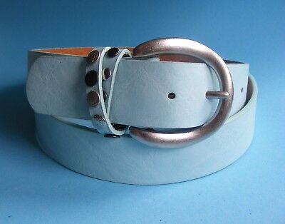 Designer Jeansgürtel  Damengürtel Basicgürtel blau hellblau HB1 (Damen Designer Gürtel)