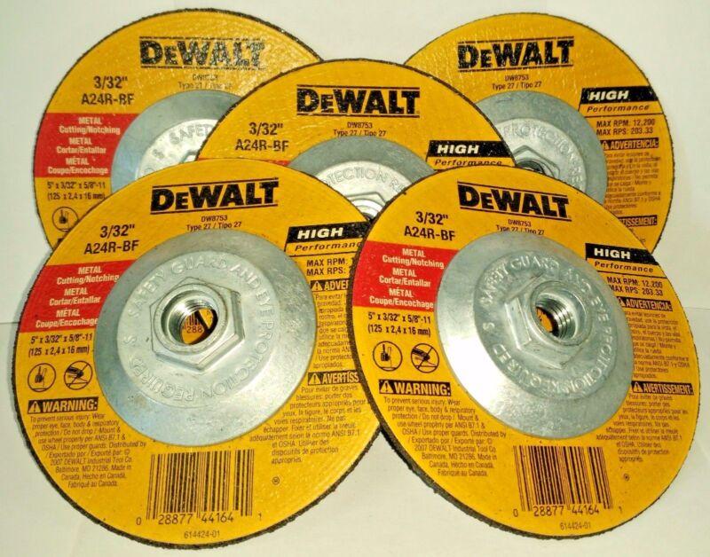 5-Inch X 3//32-Inch X 5//8-Inch DEWALT DW8753 Abrasive Wheel
