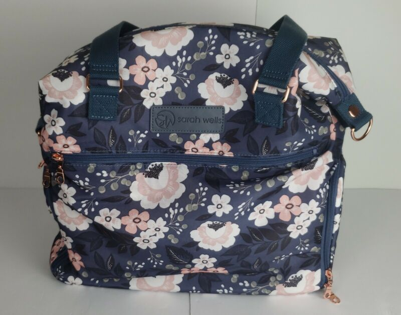 """Beautiful Sarah Wells """"Lizzy"""" Breast Pump Bag Floral Design *New Without Tags *"""