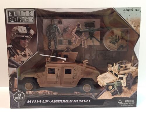 MIB BBI ELITE FORCE 1/18 - M1114 Up-Armored Humvee GI Joe Co