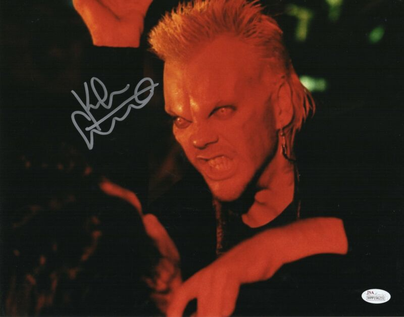 Kiefer Sutherland Autograph 11x14 Photo The Lost Boys David Signed JSA COA