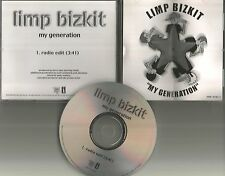 LIMP BIZKIT My Generation w/ RARE RADIO EDIT PROMO Radio ...