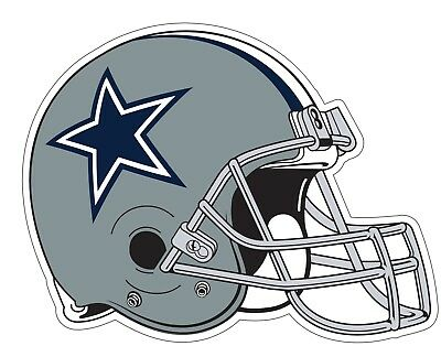 Dallas Cowboys Helmet NFL Logo Vinyl Decal Sticker - You Pick Size - Dallas Cowboys Home Decor
