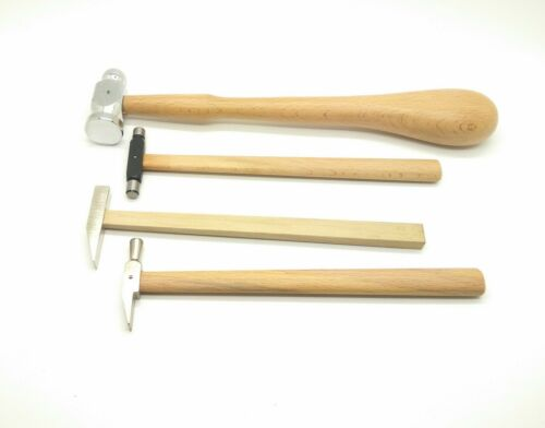 4 hammers SET  Repouse ball pein planishing metal jewellers tools,watch makers