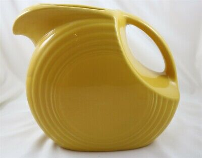 Homer Laughlin Fiesta Ware Large Disc Water Pitcher Contemporary Marigold Color