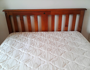 Beautiful wooden Bounty  queen bed with Sealy mattress Springwood Logan Area Preview