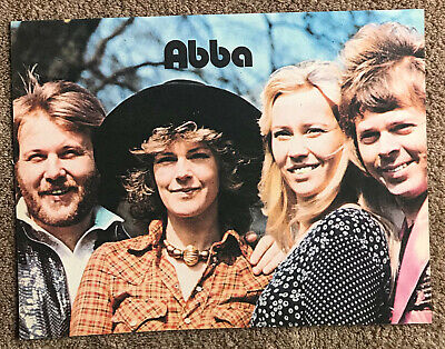 ABBA - 1977 Full page UK magazine annual poster