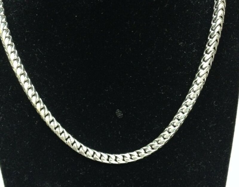 "14k Solid Gold Franco Curb Box Link 28"" 5mm 130 Grams Chain/necklace Wfr"