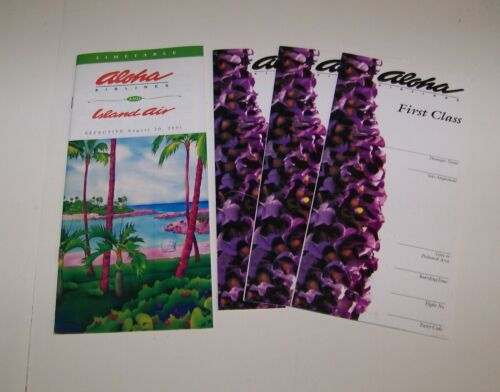 ALOHA AIRLINES and ISLAND AIR  TIMETABLE - August 20, 2001
