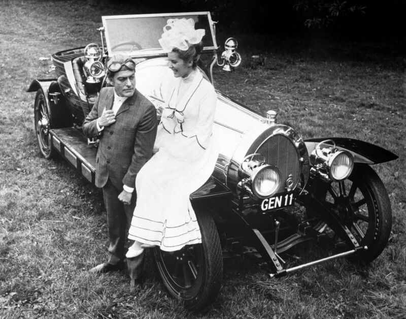 Dick Van Dyke and Sally Ann Howes with the iconic Chitty Chitty Bang Bang in 1967. PA
