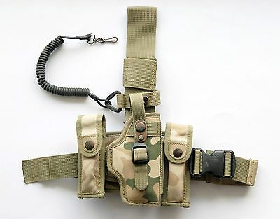 Used, ORIGINAL TACTICAL LEG HOLSTER P64 P83 DESERT AFGANISTAN POLISH ARMY ( CZ27 P22 ) for sale  Poland
