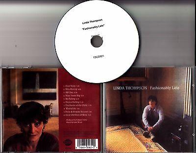 LINDA THOMPSON Fashionably Late UK 10-track promo CD Kate Rusby Rufus Wainwright