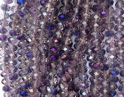 Бисер HOT 8x6mm Gray Swarov~ski Crystal