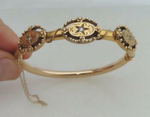 Antique Victorian 14K Gold Diamond Bracelet - 81078