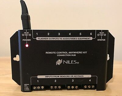 Niles Remote Control Anywhere Kit Connection Hub, Tested for Power! (Remote Control Anywhere Kit)