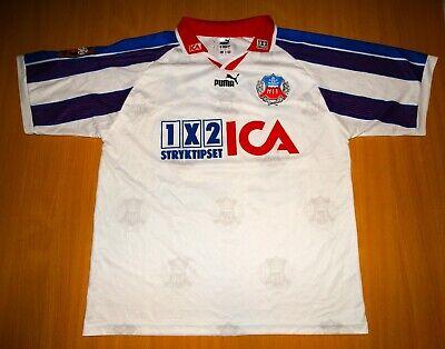 Helsingborgs IF SWEDEN #19 MATCH WORN 1997 1998 shirt football camisa AWAY  image