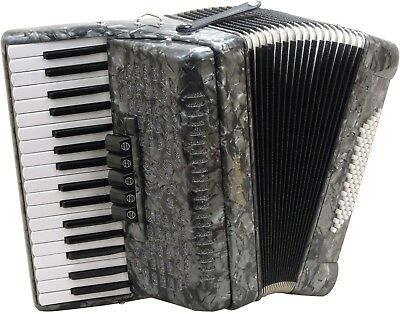 "New Stephanelli 72 Bass Accordion - 2019 ""Elite"" Model  Perloid Grey"